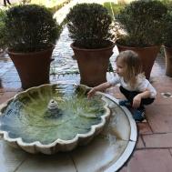 Leyla Elhamra bahçelerinde
