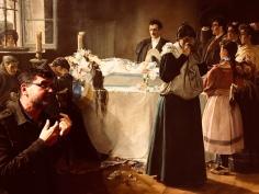 Julio Romero de Torres Müzesinde sergilenen bir tablonun önünde!